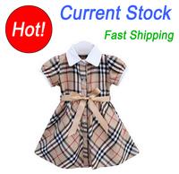 Children Girls Brand Dress New Summer Baby Grils Princess Dressespageant/Petti Kids/Children Plaid Dress
