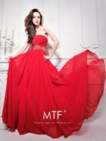 Free Shipping L1291 Promotional Factory Elegant Off-Shoulder Chiffon Beaded Evening Dress 2013 Latest+100%chiffon
