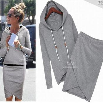 2014 autumn-summer women casual suit baseball sweatshirt tracksuits pullovers hoodies sportswear clothing set