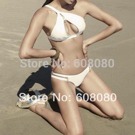 2014 Fashion Style White Bandage Bikini Set Micro Mini Swimwear ...
