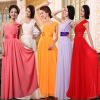 long blue evening dress 2015 new arrival formal dresses purple and red one shoulder oblique  modest dresses party dresses gown