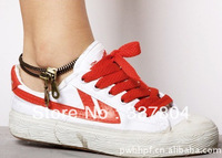 New Arrival! Fashion double zipper foot chain,both for man and woman,foot jewelry anklet barefoot sandals