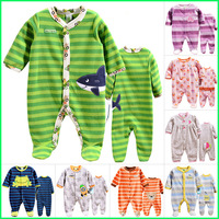 Original carter's & other's brand fleece romper,newborn baby clothing, boys & girls long sleeve one piece Jumpsuit,size 3M-12M