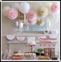 "DIY 10""(25cm) Decorative Tissue Paper Pom Poms Flower Balls for Birthday Party Supplies Wedding Decorations"