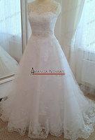 Elegant A-line Lace Sleeveless Actual Wedding Dress NS142
