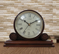 Free shipping wooden antique mantle table clock