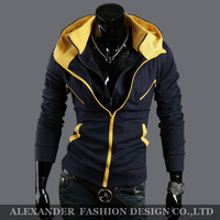 Freeshipping Promotion and Discounted,2014 Men's Sports Hoodies and Sweater,Casual Jackets.Cotton Fleece,Double layer,Slim Style