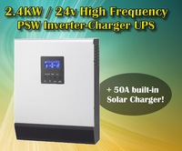 2400w 24v to 220V off grid solar Power inverter charger  pure sine wave inverter charger
