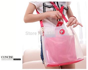 Ladies Bags Slung Over Transparent Bottle Bag Candy Crystal Jelly Bag Fluorescent Cross Body Shoulder Bag Messenger Handbags
