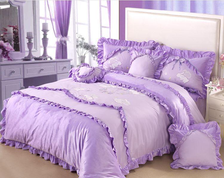 Shop popular pink purple comforter sets from china - Purple and pink comforter sets ...