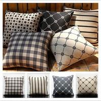 Simple Classic Retro Geometry Pillow Case 5pcs 45 *45cm  Free Shipping