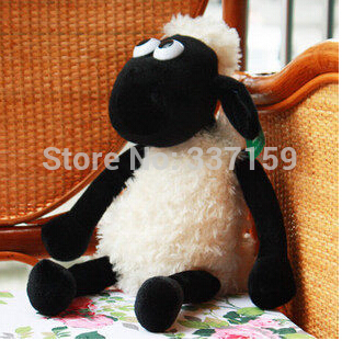 45cm super cute Shaun sheep creative plush toy, stuffed TV/animation sheep,  free shipping 1pc, birthday gift for children
