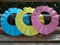 Newest Adjustable 4 Width Shower Cap Bath Baby Wash Hair Shield Foam Hat  2pcs Free Shipping