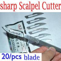 No.23 Scalpel Burin Maintenance Chisel Handle +20/PCS blade Application PCB Circuit board phone Membrane Sterile/Beauty/DIY