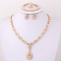 2014 new products cubic zirconia necklace african jewelry set gold plated a set of earrings and necklace fashion jewelry sets