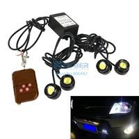 6Sets/Lot 4*1.5W IP68 Strobe Flash Eagle Eye Light Led Car Reversing Light Backup Light Tail Stop Daytime Running Light 8934