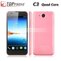 "Stock! MTK6589T ZOPO C3 1.5Ghz FHD 5.0"" cellphone 16GB/1GB Android 4.2.1 Quad core phone GSM+WCDMA 3G Unlocked"