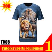 Super Deal! TQ05 2013 New Quick Dry 3D Men Short Sleeve Top The Lion King 3D Print T-shirt Plus Size M L XL XXL