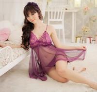 2013 Free Shipping Women Sexy Transparent lingerie Garter Lady Sexy Underwear XL Black Purple Pajamas S0003#