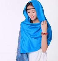 7 Colors Free shipping  2013 fashion Women's scarf Jacquard pashmina tassel national trend pashmina Shawl Stole HOT Sale A01W26
