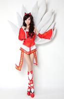 LoL Ahri Nine tail Sexy Cosplay Costume lnu x Boku SS Soushi gift
