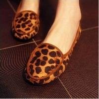 2014 New Arrival Round Toe Women Casual Fashion Shoes Solid Casual Leopars Lady's Brand New Women Flat Shoes