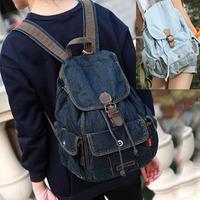Women Preppy Rucksack Denim Backpack For Girl Teenagers Mochila Escolar Bagpack School Back Pack Jean Bag Feminina Knapsack S222