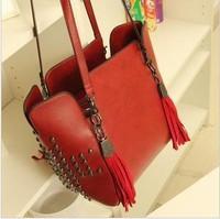 4 Colors HOT Free Shipping 2013 New Arrival Women Handbag Leather Shoulder Bag Women's Messenger Bag