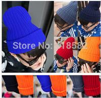 M002-Women winter wool hat  beanies cap  for men 20 candy colors Free drop shipping