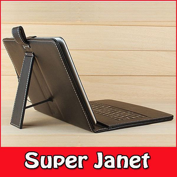 "FEDEX DHL Freeship 100 Pc/lot 7"" Inch PU Leather Keyboard Standing Case for Tabletpc Epad Apad MID Laptop Usb2.0 W/ Stylus Black(China (Mainland))"