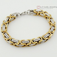 New 316L Stainless Steel Byzantine Chain Bracelet For MENS 2013 Jewelry, Link, Wholesale Free shipping,WB245