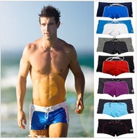 Hot Nice Mens Swimming Swim Trunks Shorts Slim Super Sexy Swimwear Fit Clear Promotion 4 Colors 3 Sizes M L XL Free Shipping