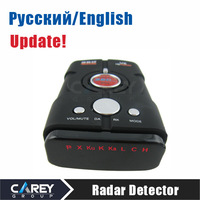 HK post! Radar detector Russian/English voice car alarm vehicle speed control Radar detect V8