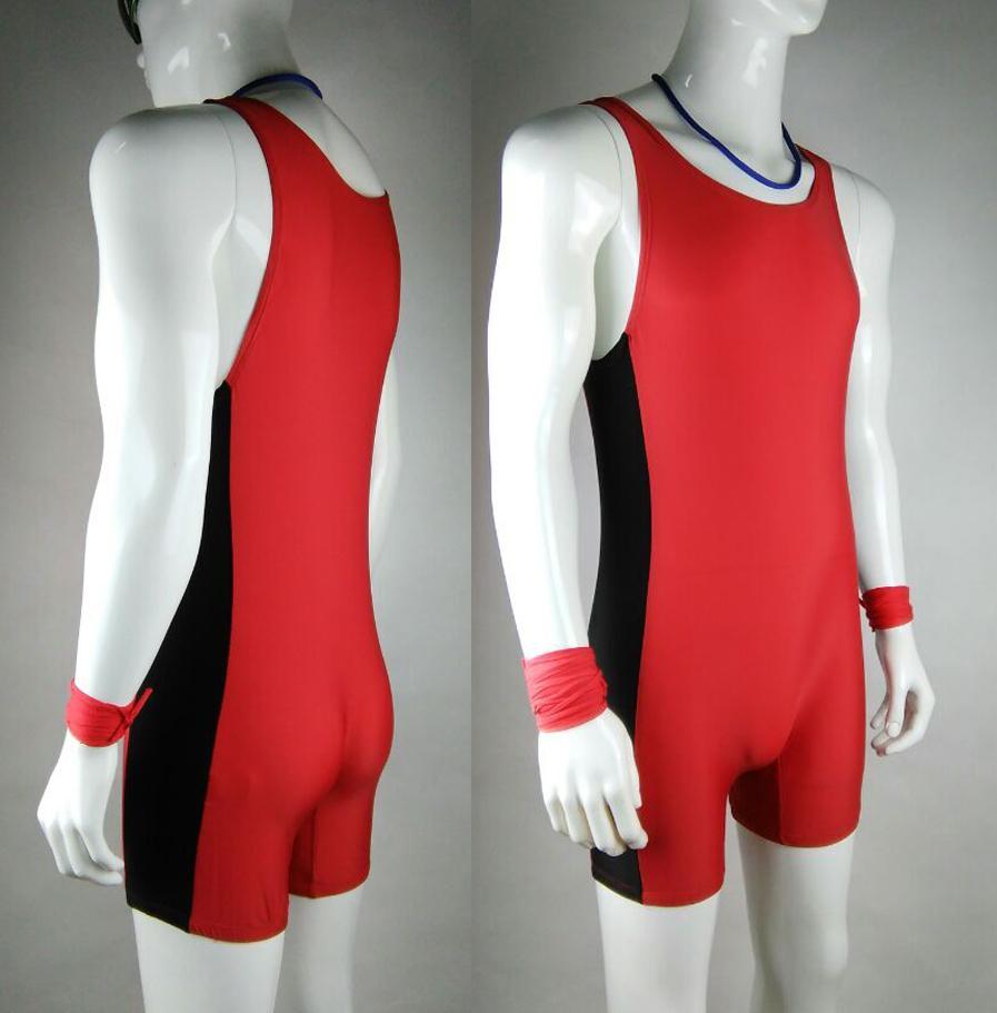 Tight Mens Red Leotards&Unitards Swim Suit Mens One piece Swimwear