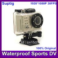 Sports camera FHD1080P Waterproof Bike Helmet Action Dash Camera Cam DVR Suptig (like gopro )+170 wide Angle lens Free shipping
