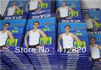 Free Shipping 500pcs/lot Slim N Lift Sliming Shirt For Men Slimming Undershirt As Seen On TV Body Shaper