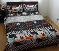 50% cotton 3d printed bedding sets queen size,Microfiber bed linen,duvet cover set &Purple flower pattern #H015-1