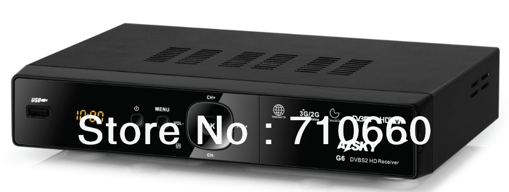 AZSKY G6 DVB-S2 HD Receiver +GPRS COMBO for africa with iks funciton for africa market(China (Mainland))