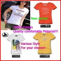 Letter Fashion 100% Cottone quality  material women short-sleeve t-shirt female clothing summer top basic shirt baseball uniform