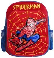 Boutique spider-man plush backpack shoulders the cartoon plush bag kindergarten for children free shipping