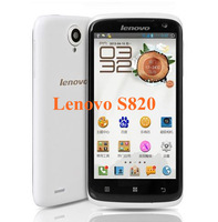 Free shipping 4.7 Inch Lenovo S820 IPS Capacitive Touch Screen MT6589 Quad Core1GB RAM 4GB ROM moblie phone