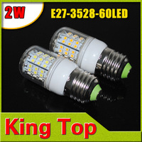 8Pcs E27-3528-60LED Bedroom use, 200-240V LED Spot light E27 7W 3528 SMD 60 LEDs Bulb Lamp Light Spotlight E27 Free Shipping