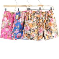 Free shipping!/2014 new summer women girl casual Flowers Printing elastic waist short Short pants