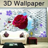 Child photo 3d mural wallpaper romantic water mirror flower large custom modern minimalist restaurant background wall paper roll