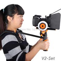 Aputure DSLR Camera Shoulder Rig Support steadycam steadicam Follow Focus Matte box Kit  (V-Rig, V-Wheel and V-MatteBox )