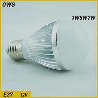 Wholesale(5pieces/lot) led bulb bubble ball bulb E27 3W/4W5W ACAC/DC12V solar light LED Light Blub light free shipping