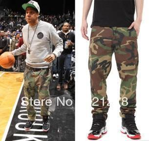New 2015 Men brand fashion summer basketball cargo camouflage sportswear board camo army military cotton casual pants trousers