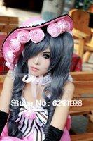 "HMG Black Butler Kuroshitsuji Ciel Women Wave Costume 33"" Cosplay Wigs"