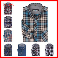 New Top Quality  Men's Plus Size( 3XL-6XL)  Full Cotton  Thick  Sanding Long  Sleeve Shirts , GDM002
