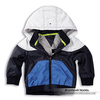 2014 New Brand Patchwork Jacket Baby Boys Hoodie Outwear Sports Coat High Quality Children's Spring Autumn Winter Clothing